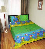 Детское постельное белье для девочек Русалочка, бязь (хлопок 100%)