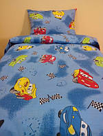 Детское постельное белье для мальчиков Тачки, бязь (хлопок 100%)