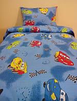 Подростковое постельное белье для мальчиков Тачки, бязь (хлопок 100%)