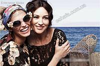 Солнцезащитные женские очки  с цветами Dolce&Gabbana  2 цвета: розовая пудра, черные