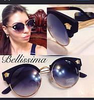 Стильные круглые женские солнцезащитные очки g-4316177