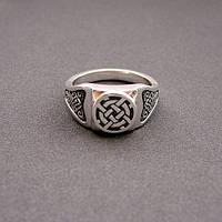 "Серебряное кольцо - перстень оберег ""Лада"""