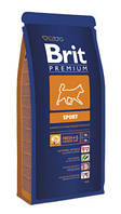Брит Премиум Спорт 1кг, сухой корм для взрослых активных собак всех пород