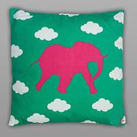 """Декоративная подушка со съемной наволочкой """"Розовый Слон"""" 45*45 см"""