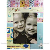 YRE - Зеркало детское настольное 1-сторон. 108 (на картонной основе, карман для фото, 13х18см)