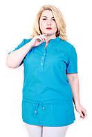 Рубашка женская однотонная 093 (3 цвета)
