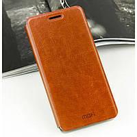 Чехол-книжка Mofi для телефона  Xiaomi Redmi Note 2 коричневый brown