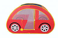 "Детская палатка ""Машинка"" красная. компактная"