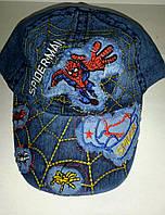Кепка  джинсовая для мальчика спайдермен,  Человек паук