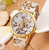 Часы с цветочным принтом код 186