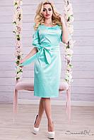 Эффектное атласное женское платье  ,доставка по Украине