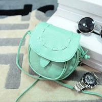 Маленькая женская сумка Круглая бирюзовая