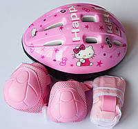 Набор - Hello Kitty - Защита для детей - шлем + защита для локтей, колен и запястий