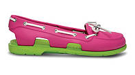 Crocs Beach Line Boat Shoe Pink Green женские оригинал