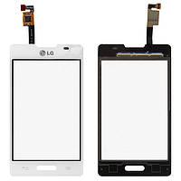 Сенсорный экран для LG E440 Optimus L4 II white Original
