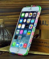 Разноцветный бампер с камнями Сваровски для Iphone 6