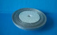 Лента парча 0,5 см. серебро