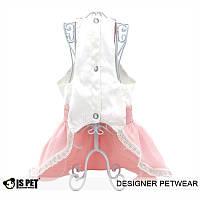 Свадебное платье «Бант» S/роз