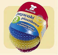 Kuchcik Мочалка пластиковая для посуды 3шт