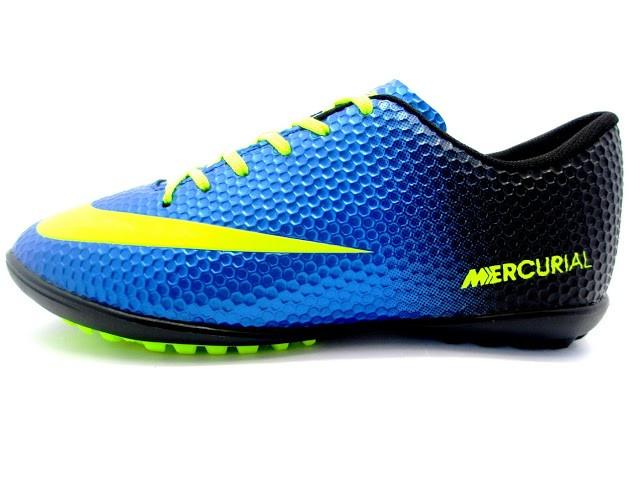 Футбольные сороконожки Nike Mercurial Victory Turf Blue/Yellow/Black