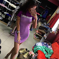 Платье модное вязанное мини разные цвета SMM174