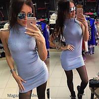"""Платье модное """"Американка"""" вязанное мини разные цвета SMM175"""