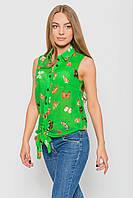 Шифоновая блуза Бабочки зеленый