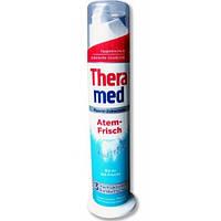 Зубная паста с дозатором Theramed Fluorid-Zahncreme Atem- Frisch -свежее дыхание