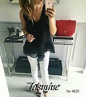 Блузка женская Без рукавов черная