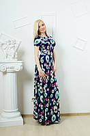 Платье в пол с цветочным принтом, фото 1