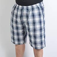 Мужские бриджи до колена в клеточку под лен