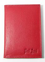 Кожаная документница женская красная