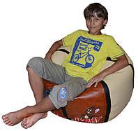 Кресло мяч бескаркасный пуф с именем для детей