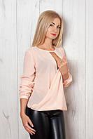 Женская шифоновая рубашка с запахом
