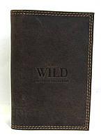 Кожаная документница унисекс коричневая Always Wild