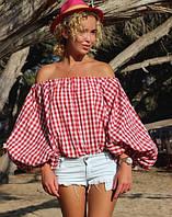 Блуза летняя в клетку