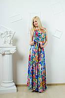 Длинное платье с цветочным принтом, фото 1