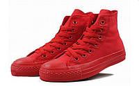 Детские кеды Converse Chuck Taylor All Star Hgh Mono Red (конверсы оригинал)