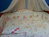 """«ASIK» постель в кроватку """"мишки на подушках"""" ( 8 ед. ) №125"""