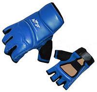 Накладки (перчатки) для таеквондо PU+PL BO-2016-B WTF (р-р XS-XL, синий)