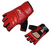 Накладки (перчатки) для таеквондо PU+PL BO-2016-R WTF (р-р XS-XL, красный)