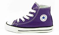 Детские кеды Converse Chuck Taylor All Star High Purple  (конверсы оригинал)