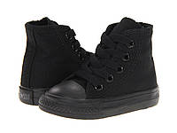 Детские кеды Converse Chuck Taylor All Star High Mono Black (конверсы оригинал)