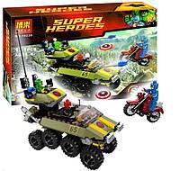 Конструктор Bela 10238 Super Heroes Капитан Америка против Гидры, 171 деталь
