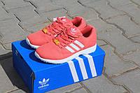 Кроссовки Adidas ZX Flux женские,подросток,коралловые