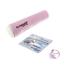 Двусторонний силиконовый штамп и скрапер для стемпинга El Corazon № K-sst-05, розовый