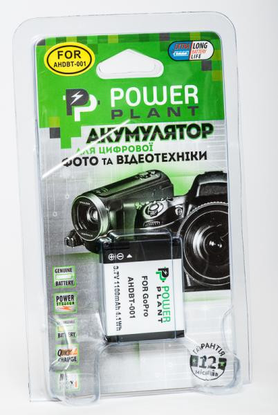 Аккумулятор для экшн-камер GoPro Hero, Hero 2: PowerPlant GoPro AHDBT-001 [sppp]