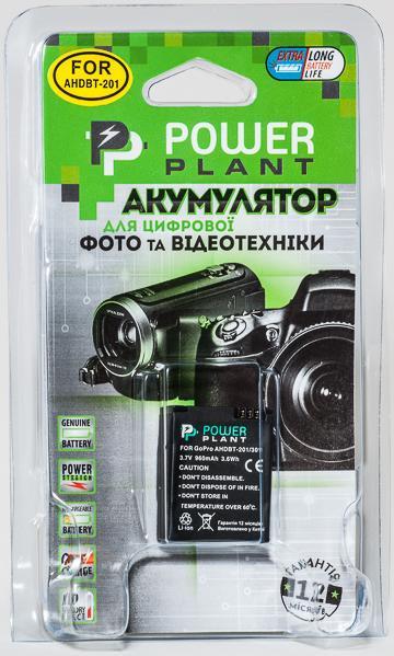 Аккумулятор для экшн-камер GoPro Hero 3: PowerPlant GoPro AHDBT-201, 301 [sppp]