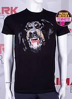 Летняя мужская футболка светится в темноте черный Стаф