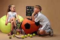 Бескаркасное Кресло мяч пуф ТЕННИС для детей